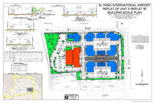 New El Paso International Airport Site Plan